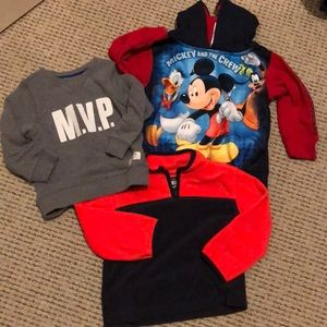Other - 3 sweater/hoodie/pullovers toddler 2T boys